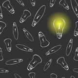 Light bulbs seamless Royalty Free Stock Photography