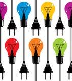 Light bulbs seamless pattern. Royalty Free Stock Photo
