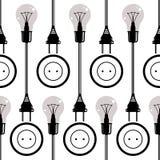 Light bulbs seamless pattern. Stock Photos