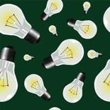 Light bulbs seamless texture royalty free stock photos