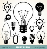 Light bulbs set Stock Photos