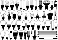 Light bulbs set Royalty Free Stock Photo