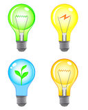 Light bulbs set. Set of  four  light bulbs Royalty Free Stock Photos