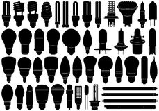 Light Bulbs Set Stock Images