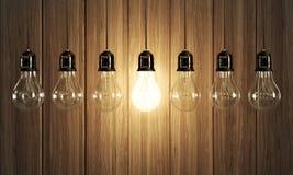 Light bulbs royalty free illustration