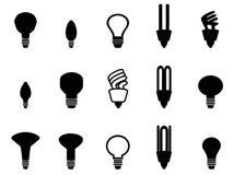 Light bulbs shape collection Stock Photos