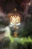 Light bulbs Sky Galaxy Stock Image