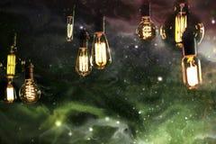 Light bulbs Sky Galaxy Stock Photography