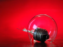 The light bulbs-snails. The life fantastic subject. The damaged light bulb stock images