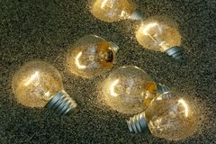 Light bulbs in song Stock Photography