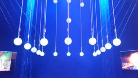 Light bulbs for stage. Lightning royalty free stock image
