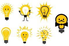 Light bulbs symbols Stock Image