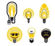 Light bulbs symbols Stock Images