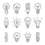Light bulbs. Vector Stock Photo