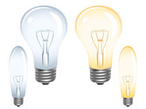 Light bulbs on white Royalty Free Stock Image