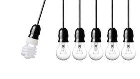 Light bulbs on white Royalty Free Stock Photos