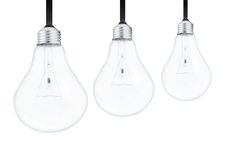Light bulbs on white background Royalty Free Stock Image