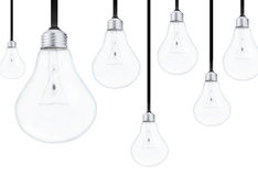 Light bulbs on white background Stock Photo