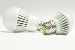 Light bulbs on white background Royalty Free Stock Images