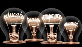 Free Light Bulbs With Educate Concept Stock Photo - 160181150