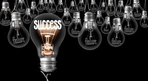 Free Light Bulbs With Failure - Success Concept Stock Images - 145494524