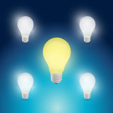 Light bulbs yellow and white illustration design Royalty Free Stock Photography