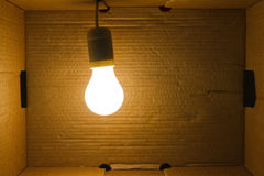 Light-bulg hanging in box Royalty Free Stock Image