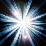 Light burst. Bright light burst on black background Royalty Free Stock Photos