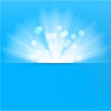 Light burst blue background Royalty Free Stock Photography