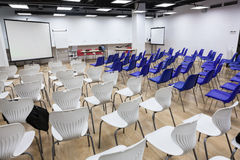 Light business room with lot of chairs is ready for conference Royalty Free Stock Images