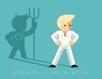 Light businessman and shadow devil. Appearances Royalty Free Stock Photography