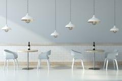 Light cafe interior Stock Photos