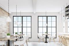 Light cafe interior Stock Image