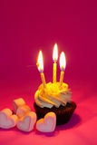 Light on cake in dark a Royalty Free Stock Photo