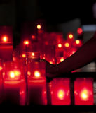 Light a candle Royalty Free Stock Photography