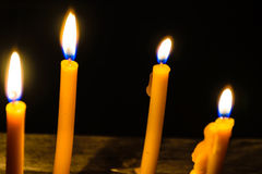 Light candle Stock Images
