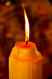 Light of candle in the dark Royalty Free Stock Images