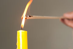 Light candle is the ignite of incense. Light candle is the ignite of incense for worship Stock Image