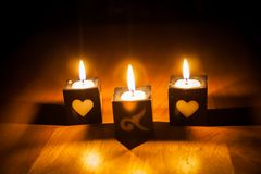 Light candle Royalty Free Stock Photos