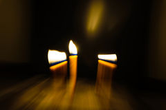 Light candle movement Royalty Free Stock Image