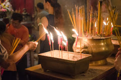 Light candle. In temple in hongkong royalty free stock photography