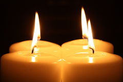 Light of Candles Stock Photography