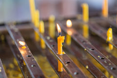 Light candles for Buddhist worship Buddha. Royalty Free Stock Photo