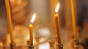 Light Candles stock video