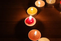 Light of candles royalty free stock photo