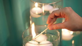 Light candles Royalty Free Stock Photography