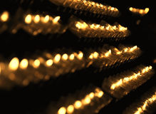 Light from candles. Light from lot of candles arranged in staircase Royalty Free Stock Images