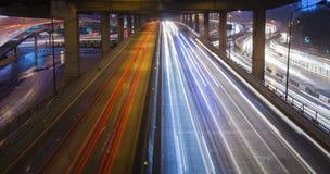 Light car headlights Royalty Free Stock Image