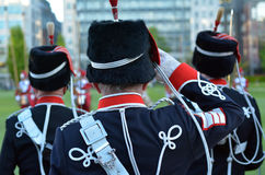 Light Cavalry HAC salute during a parade in London,UK Royalty Free Stock Photos