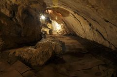 Light in the cave Royalty Free Stock Photography